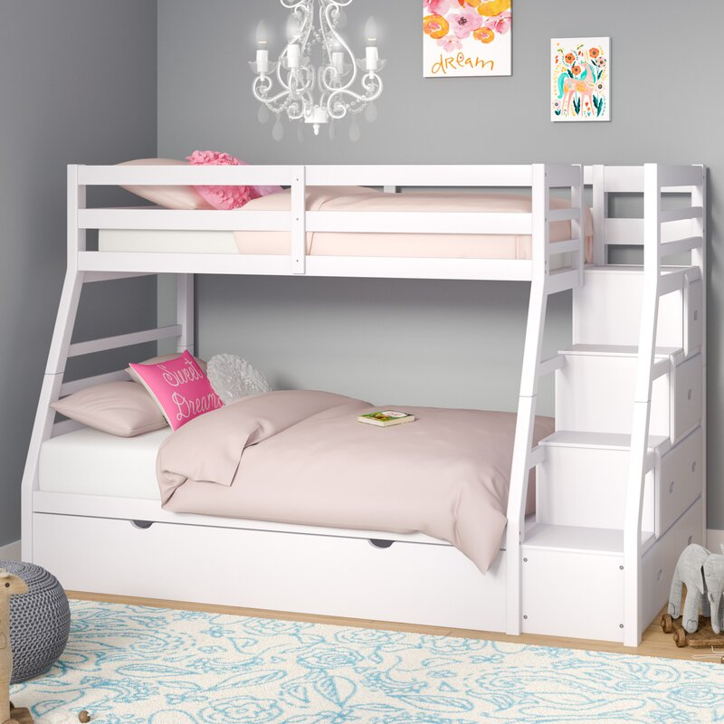Viv Rae Reece Twin Over Full Slat Bunk Bed With Trundle Reviews