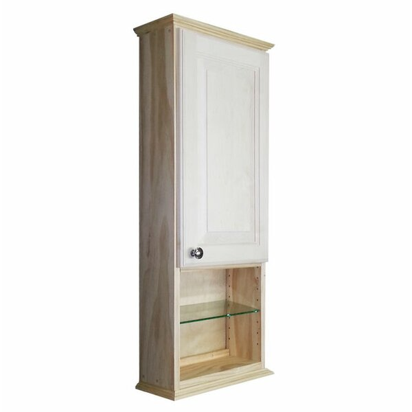 Ashley Series 15.25 W x 37.5 H Wall Mounted Cabinet by WG Wood Products