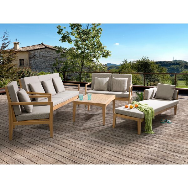 Austinburg 5 Piece Sofa Set with Cushions by Foundry Select