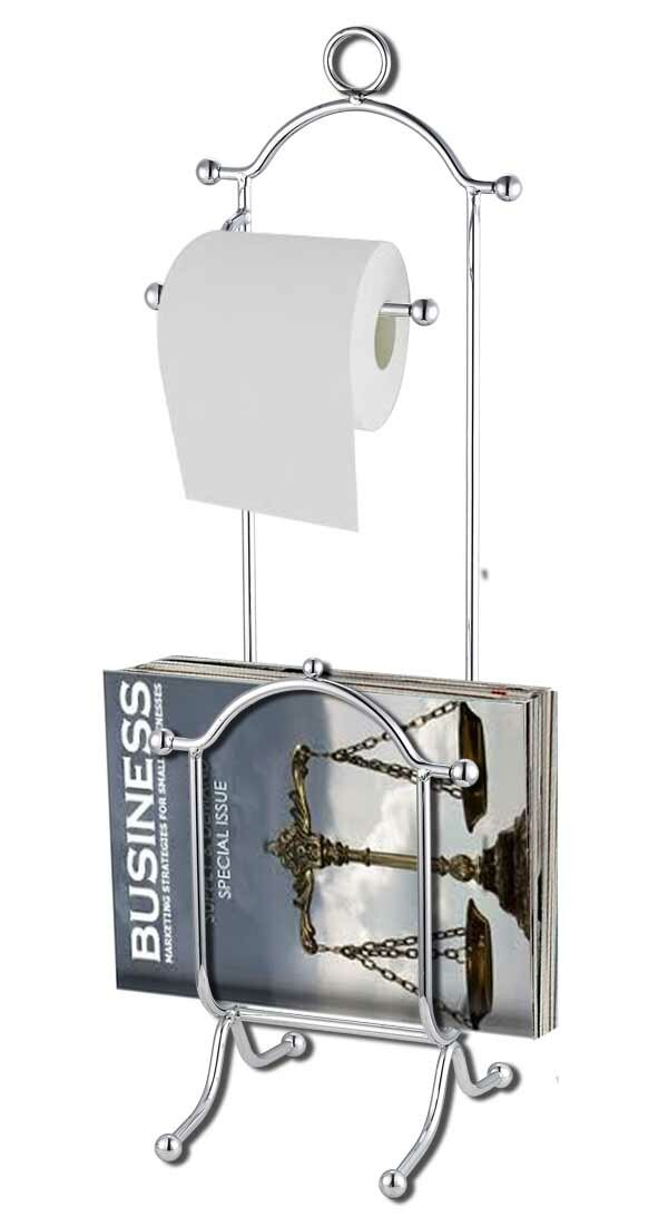 Home Basics Free Standing Chrome Toilet Paper Holder With Magazine Stunning Toilet Paper Holder With Magazine Rack