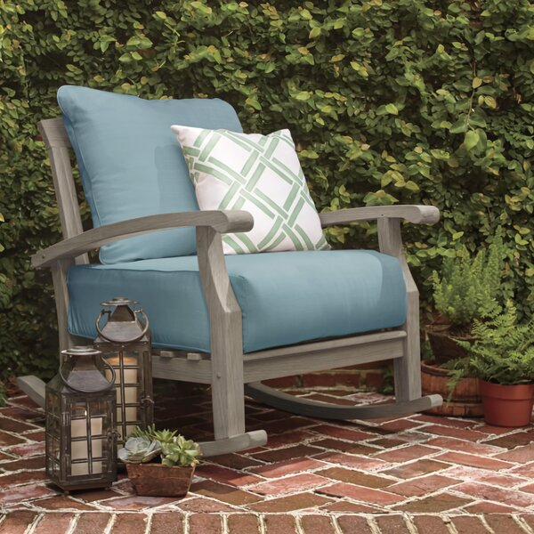 Summerton Teak Rocking Chair With Cushions by Birch Lane™ Heritage