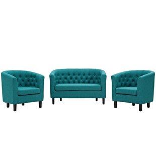 Ziaa 3 Piece Living Room Set by Zipcode Design™