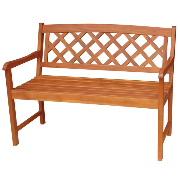 X-Back Hardwood Garden Bench by International Concepts