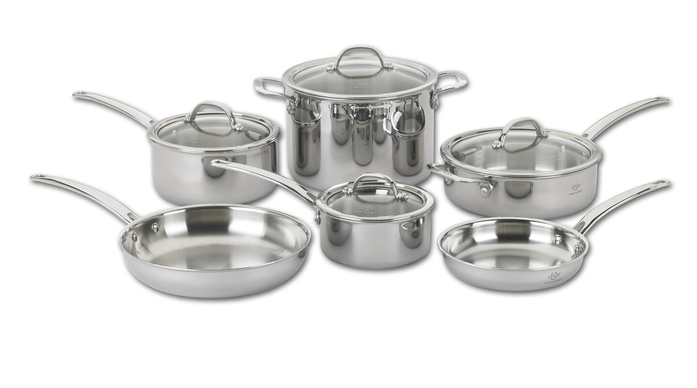 Lenox Tri Ply 10 Piece Stainless Steel Cookware Set & Reviews ...