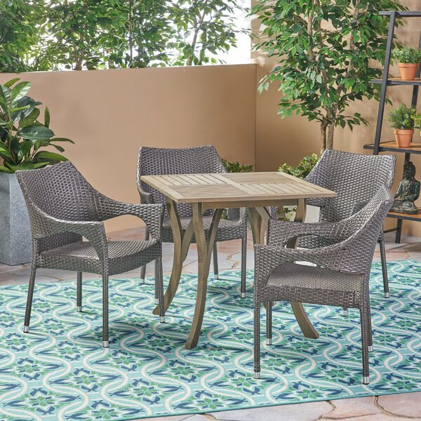 Winchell Outdoor 5 Piece Dining Set by Bungalow Rose