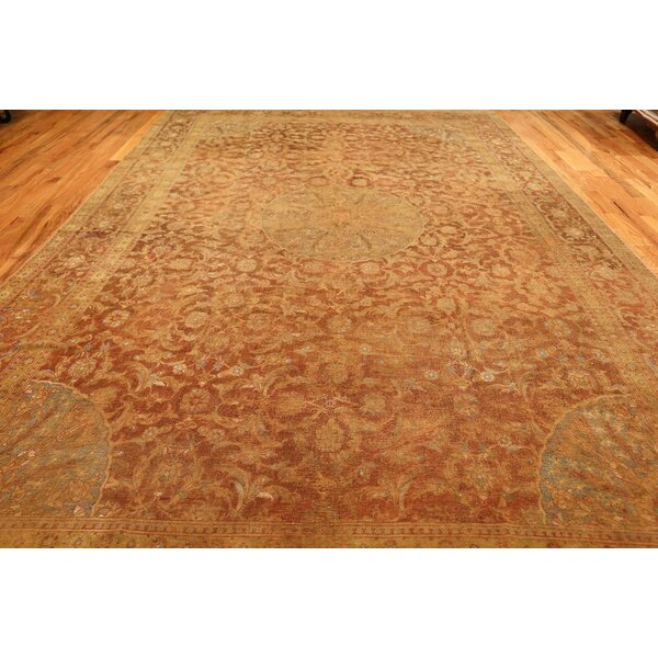 One-of-a-Kind 16th Century Hand-Knotted Before 1900 Brown 8'9 x 16'3 Wool Area Rug