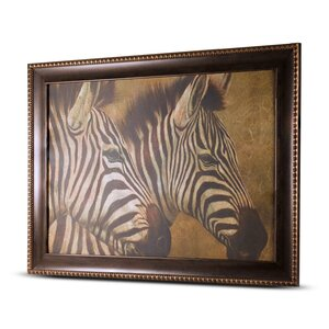'Zebra' Framed Painting Print on Canvas by Crystal Art Gallery