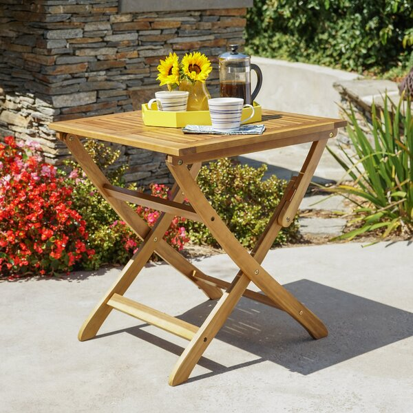 Charlemont Outdoor Foldable Wood Bistro Table by Andover Mills