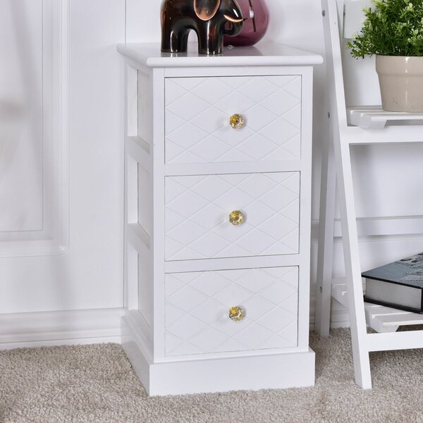 Blanco Wooden Bedside End Table with Storage by House of Hampton