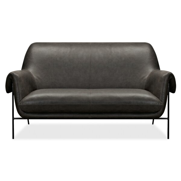 Ambroise Leather Settee By Hooker Furniture