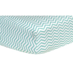 Great Price Chevron Print Flannel Fitted Crib Sheet ByTrend Lab
