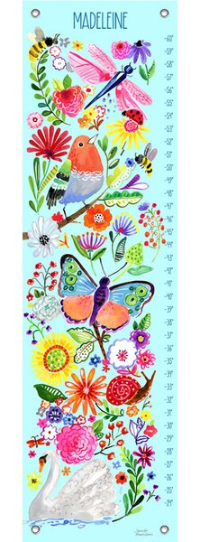In the Garden Personalized Growth Chart by Oopsy Daisy