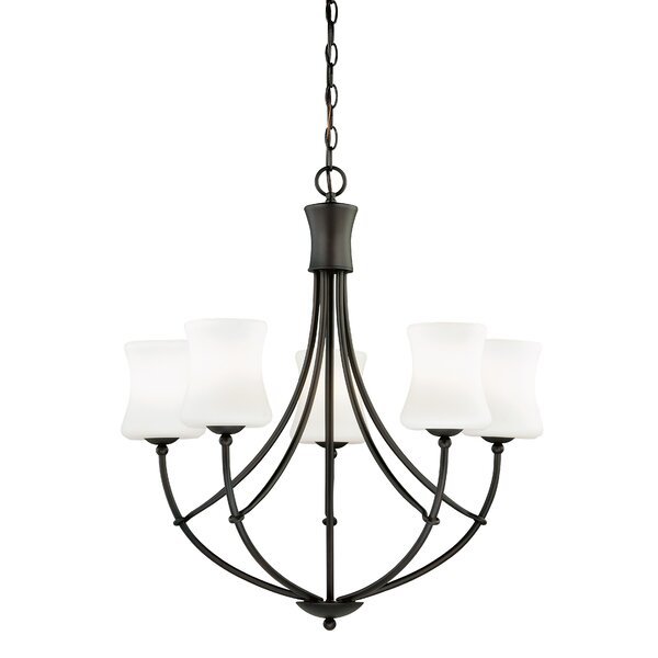 Porcaro 5-Light Shaded Empire Chandelier By Loon Peak