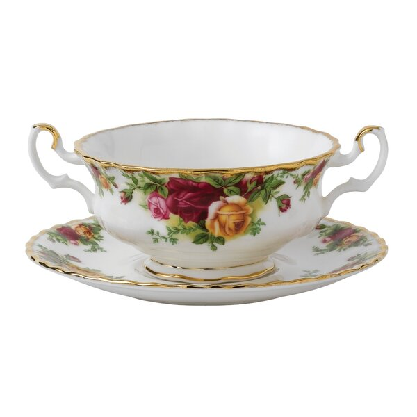 Old Country Roses 6.25 Cream Soup Saucer by Royal Albert