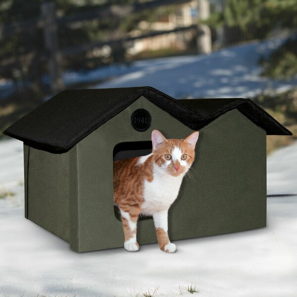 Heated Outdoor Extra Wide Cat House by K&H Manufacturing
