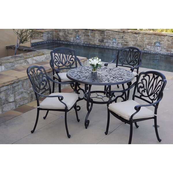 Burchell 5 Piece Dining Set with Cushions by Canora Grey