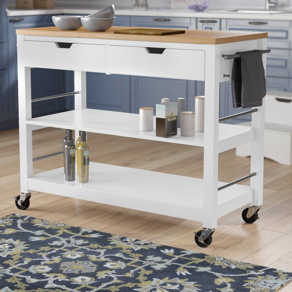 Destanee Kitchen Island with Bamboo Top by Darby Home Co