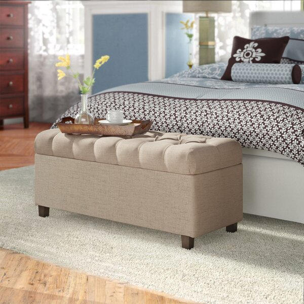 Ranshaw Button Tufted Upholstered Storage Bench by Three Posts