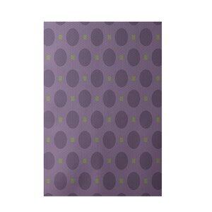 Geometric Purple Indoor/Outdoor Area Rug