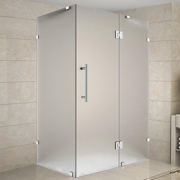 Avalux 39 x 72 Hinged Frameless Shower Door by Aston