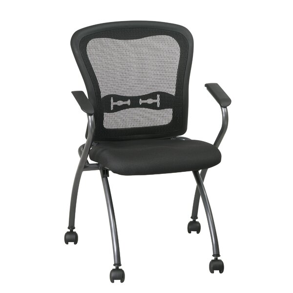 ProLine II Deluxe Folding Chair with ProGrid Back and Arms in Titanium (2-Pack) by Office Star Products
