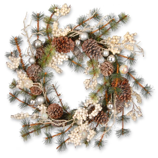 24 Berry Holiday Wreath by National Tree Co.
