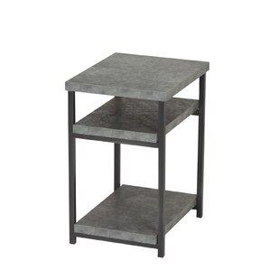 Vlad Slate Faux Concrete Low End Table