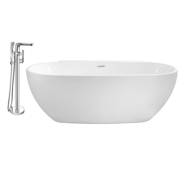 69 x 33 Freestanding Soaking Bathtub by Streamline Bath