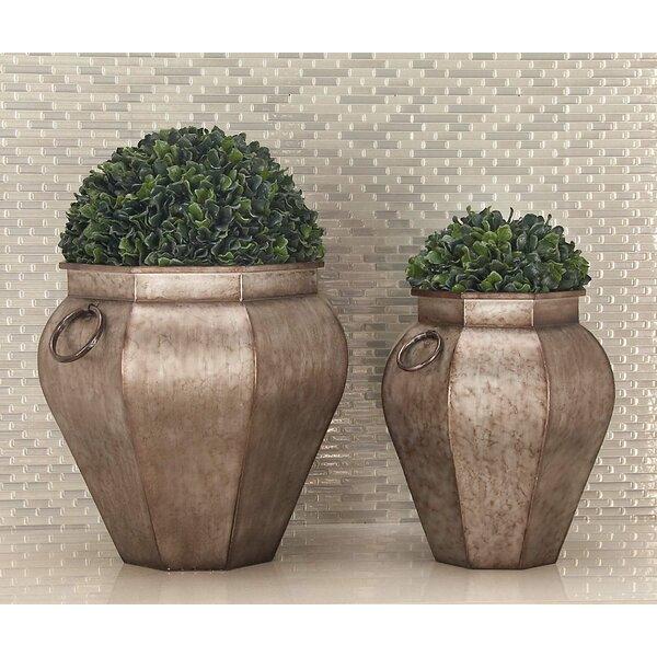 2-Piece Iron Urn Planter Set by Cole & Grey