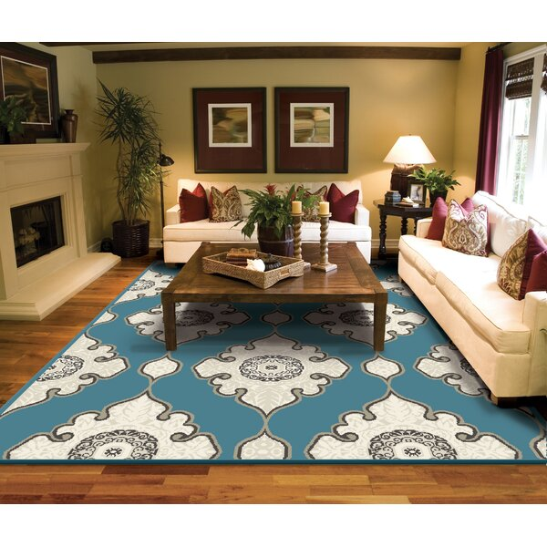 Wattsburg Distressed Black Area Rug by Bungalow Rose