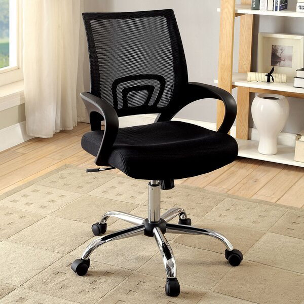 Durkin Contemporary Office Mid-Back Mesh Desk Chair by Ebern Designs