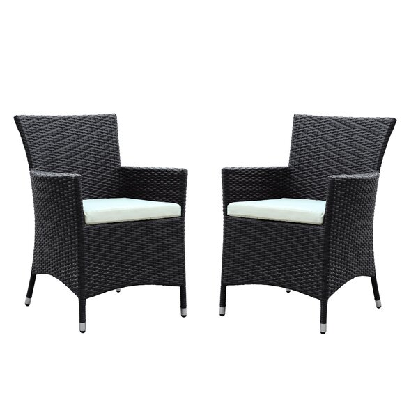 Deco Patio Dining Chair with Cushions (Set of 2) by Modway