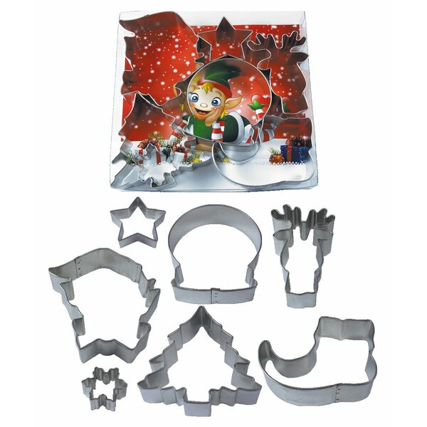 Jolly Holiday 7 Piece Cookie Cutter Set by R & M International Corp.
