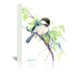 Chickadee  Painting Print on Wrapped Canvas by East Urban Home