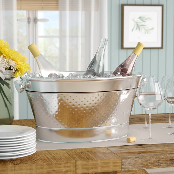 Karah Stainless Steel Party Tub by Gracie Oaks