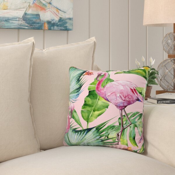 Kittel Fenicottero Flamingo Outdoor Throw Pillow by Bayou Breeze
