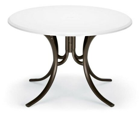 Werzalit 48 Round Deluxe Dining Table by Telescope Casual