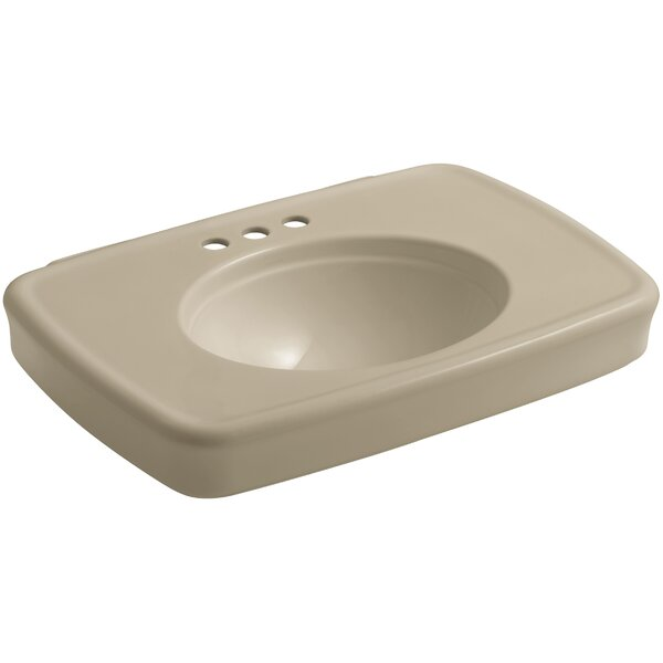 Bancroft® Ceramic 31 Pedestal Bathroom Sink with Overflow by Kohler