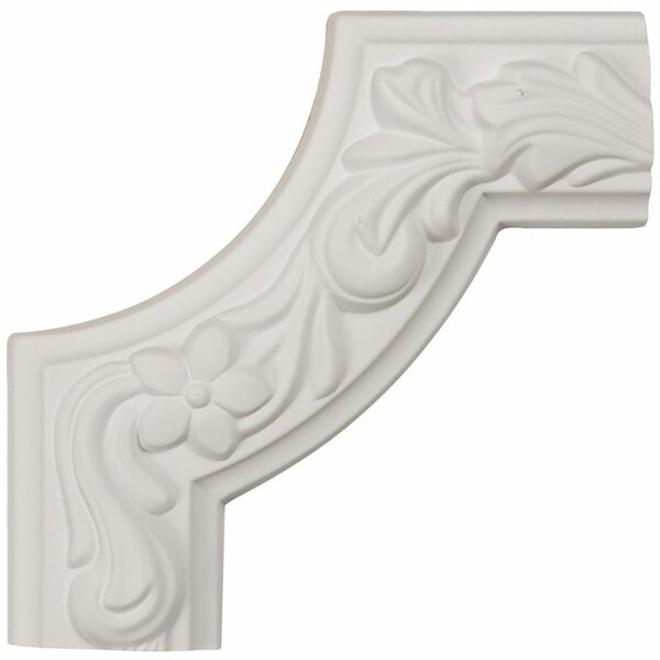 Sussex 6H x 6W x 1 7/8D Floral Panel Moulding Corner by Ekena Millwork