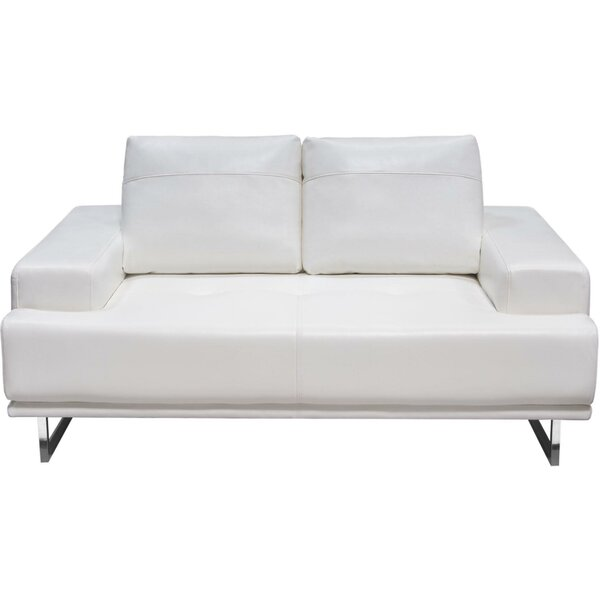 Modern Style Kaori Adjustable Backrest Loveseat by Orren Ellis by Orren Ellis
