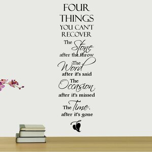 Four Things You Canu0027t Recover Quote Wall Decal