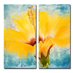 'Painted Petals XVII' 2 Piece Painting Print on Canvas Set by Latitude Run