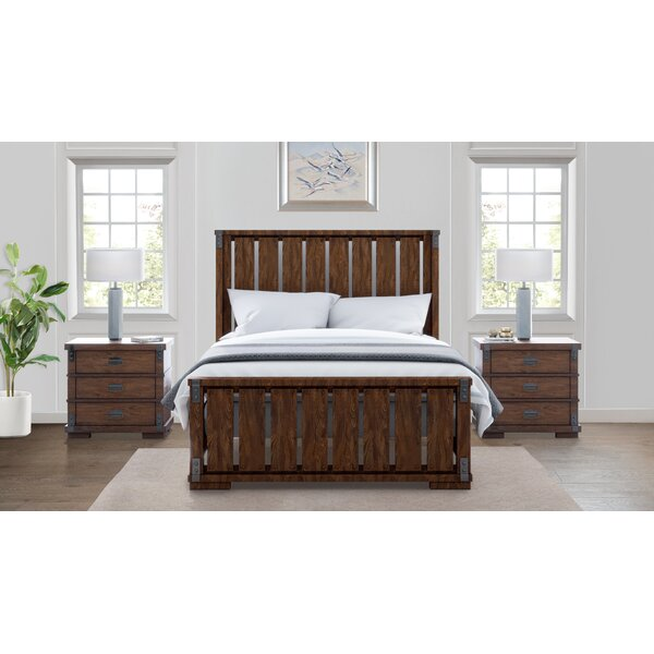 Dussault Platform Solid Wood 3 Piece Bedroom Set by Millwood Pines