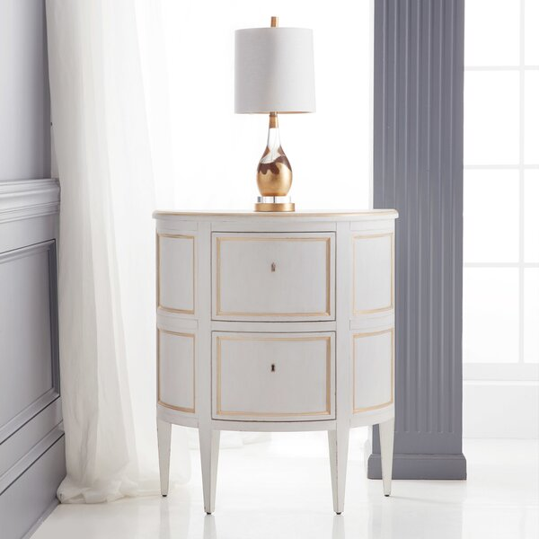 Covington Demilune 2 Drawer Nightstand by Modern History Home