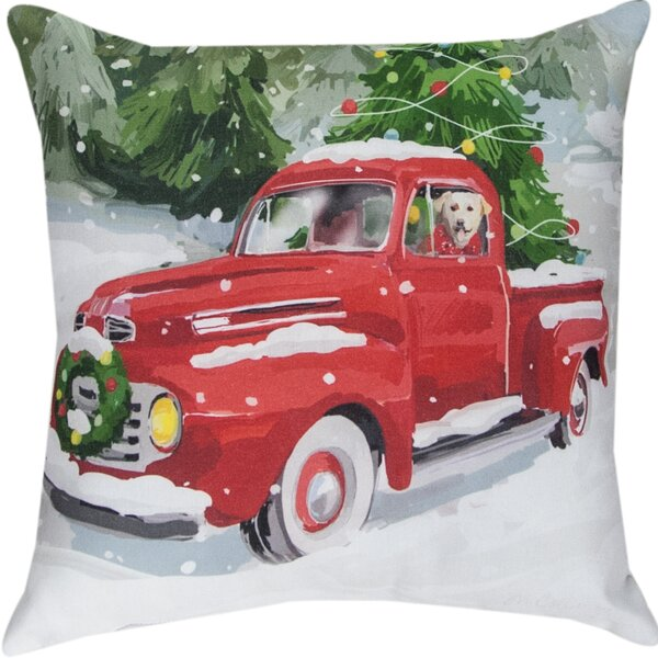 Holiday Drive Throw Pillow by Manual Woodworkers & Weavers