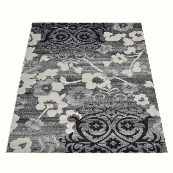 Odilia Turkish Gray/Charcoal Area Rug by World Menagerie