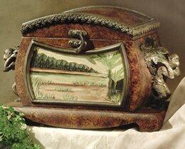Bowed Wooden Box by JB Hirsch Home Decor