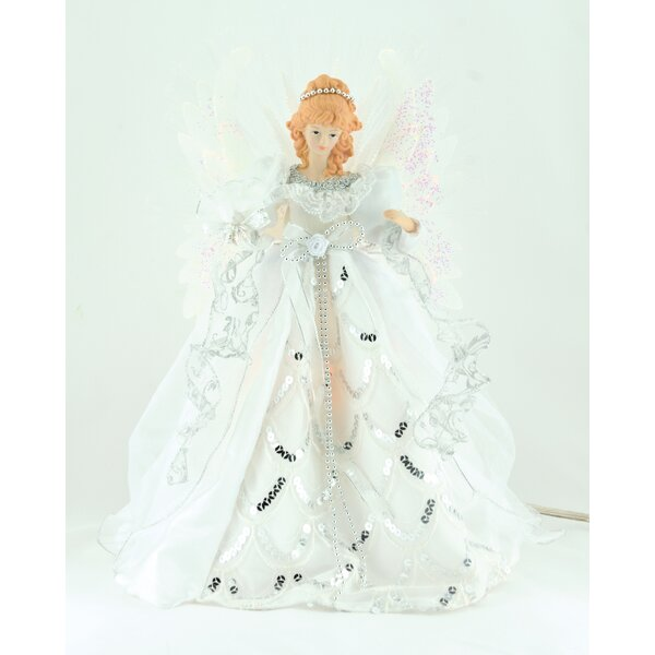 18 Fiber Optic Angel Tree Topper by The Holiday Aisle