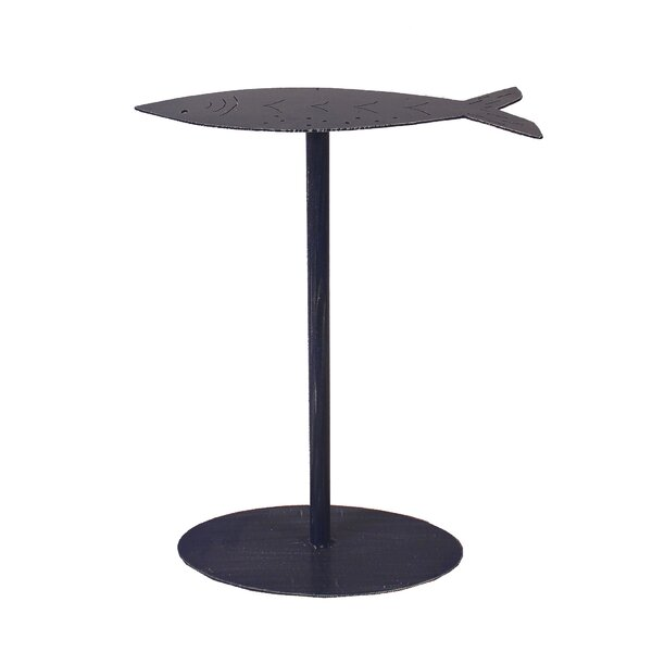 Isaias Fish Top End Table by Highland Dunes
