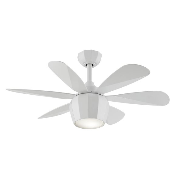 36 Crease 6 Blade Ceiling Fan with Remote by Fanimation Studio Collection